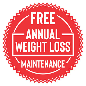 Free Annual Weight Loss Maintenance Badge