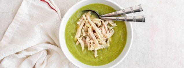 Leek & Fennel Soup with Chicken