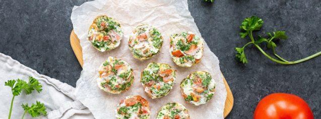 Tomato, Parsley & Chia Mini Egg White Bites